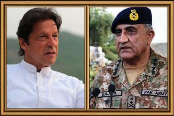 Imran Khan pays first visit to army headquarters for security briefing
