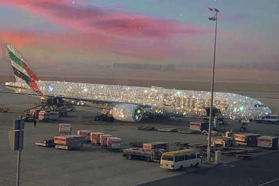 Emirates' Boeing 777 aircraft is encrusted with 'diamonds'