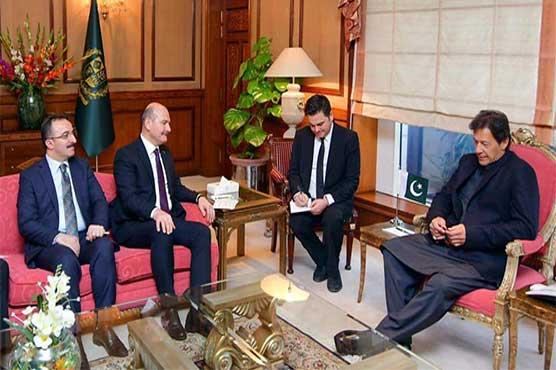 Turkish interior minister invites PM Khan to visit Turkey