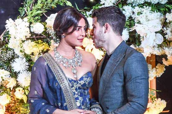 Priyanka-Nick groove to 'Desi Girl' at their reception