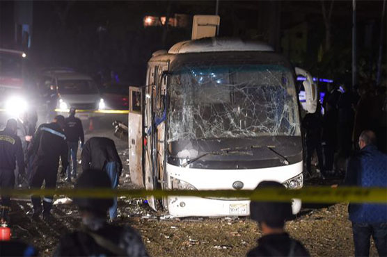 Bomb strikes tourist bus near Egypt's Giza Pyramids, kills 4