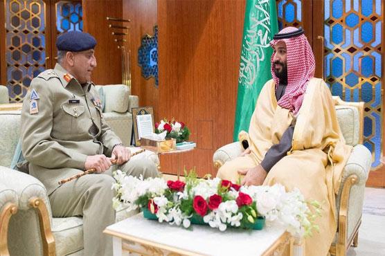 COAS Qamar Bajwa meets Saudi crown prince