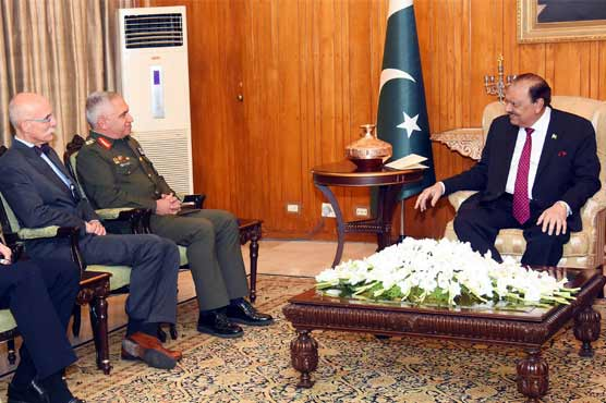 No place for militants in Pakistan: President Mamnoon