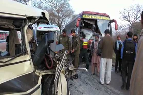 Van-coach collision kills six, injures 15 in Wazirabad