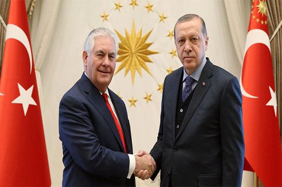 Tillerson meets Erdogan to ease Turkey tensions