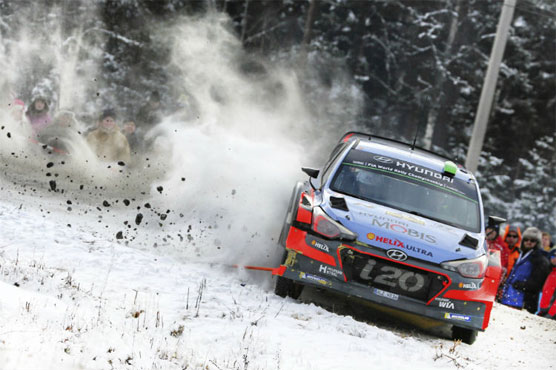 Hayden Paddon sits fourth in Rally Sweden