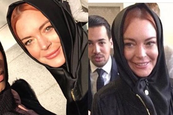 Lindsay Lohan attends London Modest Fashion Week sporting hijab