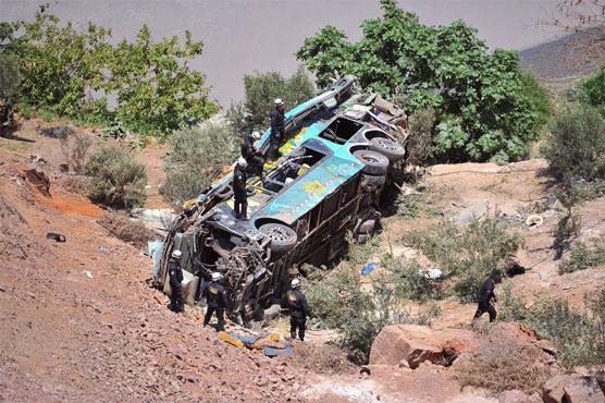Forty-four dead after bus tumbles from Peru mountain road