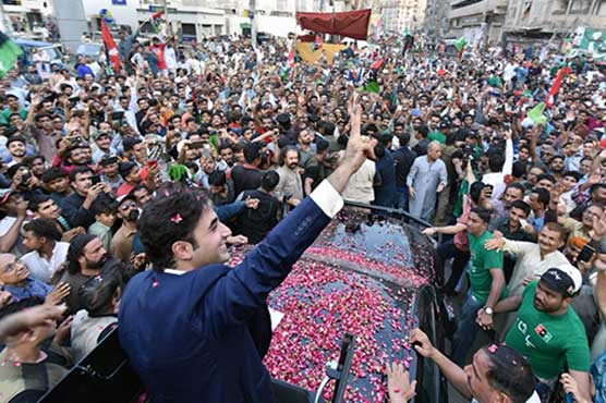 Election campaign: Bilalwal Bhutto receives warm welcome in Gulshan-e-Hadeed