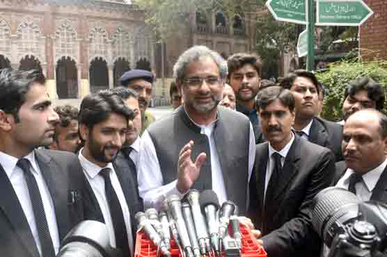 Nawaz can appear in court if date for verdict is extended: Abbasi