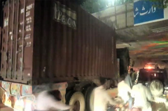 Lahore: One killed as trailer gets stuck in underpass