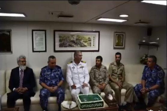PNS Saif visits Saudi Arabia's port in Jeddah