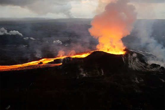 12 injured when lava bomb hits tour boat in Hawaii