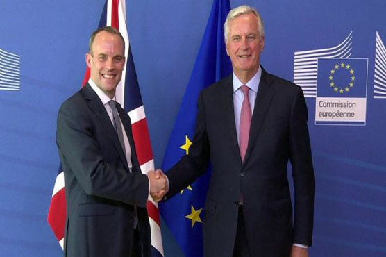 Britain's new negotiator Dominic Raab pledged to intensify talks with the EU to secure Brexit deal