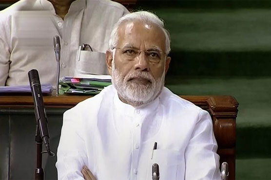 Modi's government has a clear majority in the 545-member lower house of parliament