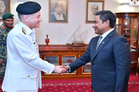 Naval Chief calls on Maldivian President
