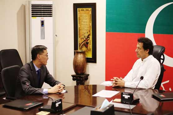 Chinese envoy calls on Imran Khan in Bani Gala