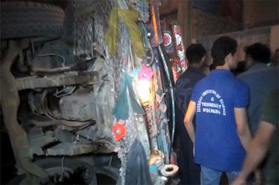 Minor boy killed as truck rolls over in Hyderabad