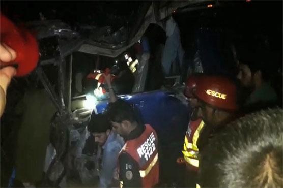 Sargodha: 7 killed, over 30 hurt in coach, dumper collision