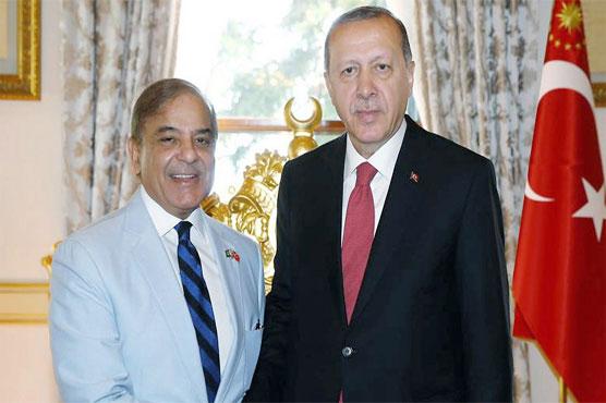 Erdogan phones Shahbaz, inquires about health of Kulsoom Nawaz