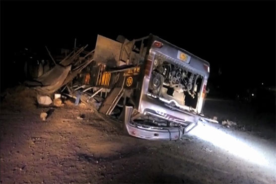 Multan: Two killed, 21 injured as bus turns turtle