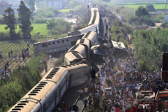 12 killed in Egypt train accident