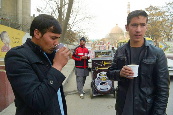 Smell of coffee permeates streets of tea-obsessed Kabul