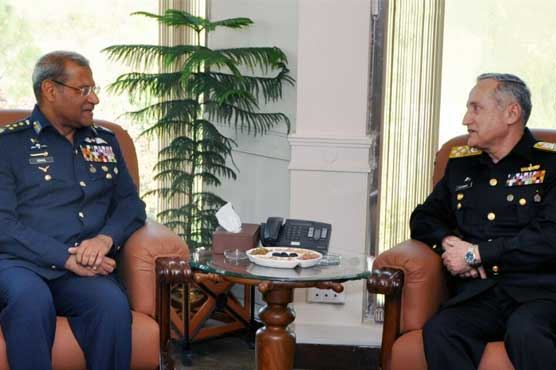 Air Chief Marshal Sohail Aman holds farewell meeting with Chief of Naval Staff