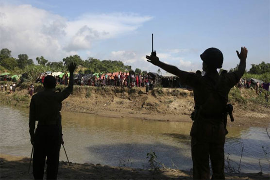 Military bases built where Rohingya once lived