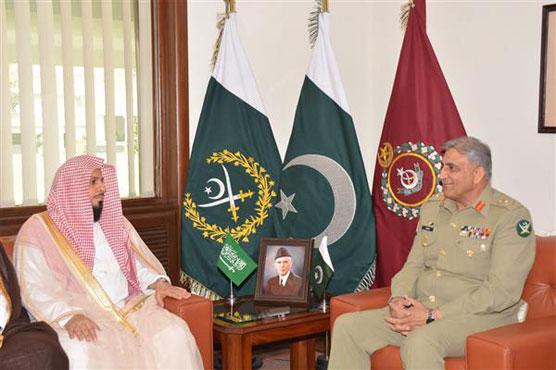 Imam-e-Kaaba meets COAS Gen Bajwa at GHQ