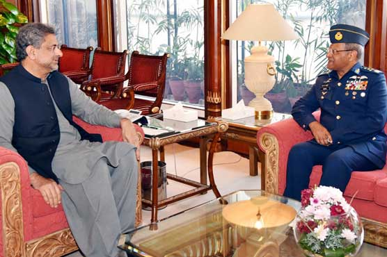 PM lauds meritorious services of outgoing PAF chief