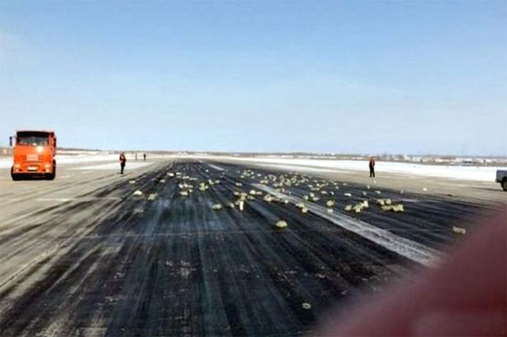 Russian runway paved with gold, silver