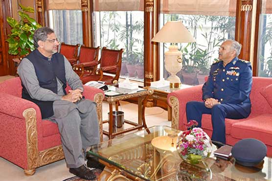 PAF chief holds separate meetings with PM, COAS