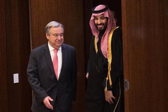 UN chief urges Saudi prince to seek political solution in Yemen
