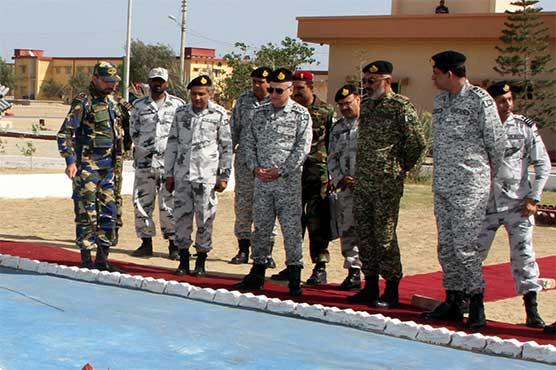 Naval Chief Admiral Abbasi visits naval installations in Gwadar, Ormara