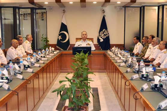 Admiral Abbasi chaired Command & Staff Conference of Pakistan Navy at Naval Headquarters