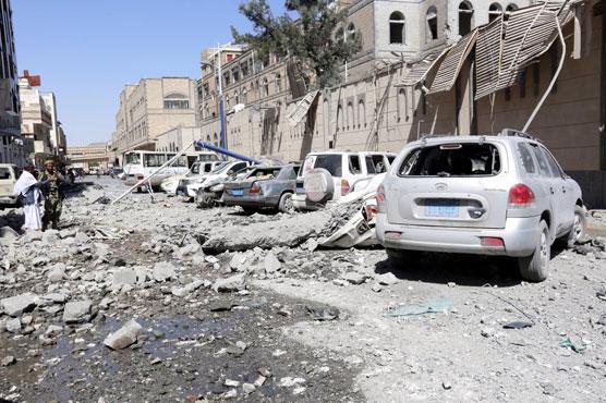 Saudi-led air strikes hit Yemen presidential palace