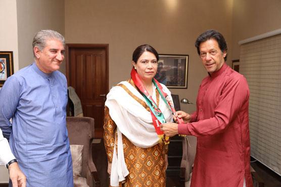PML-Q's Nilofar Bakhtiar joins PTI