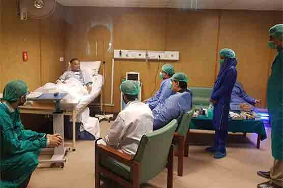 PM visits Lahore's Services Hospital to inquire Ahsan Iqbal's health