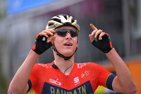 Matej Mohoric beat Nico Denz in a two-man sprint finish to win the 10th stage of the Giro d'Italia