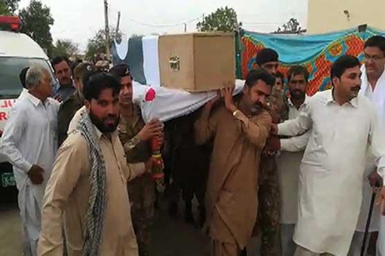 Funeral prayer of martyred Colonel Sohail Abid offered in Vehari