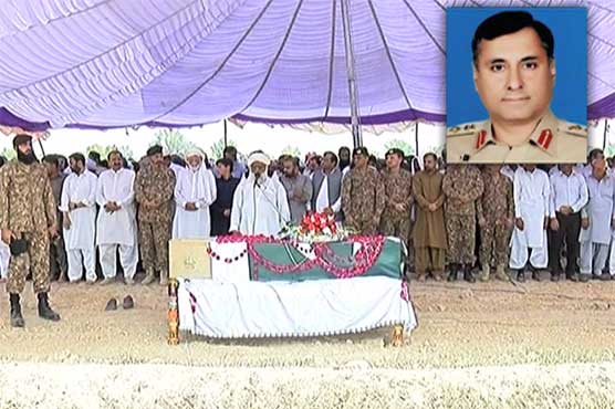 Martyred Colonel Sohail Abid laid to rest with full military honours