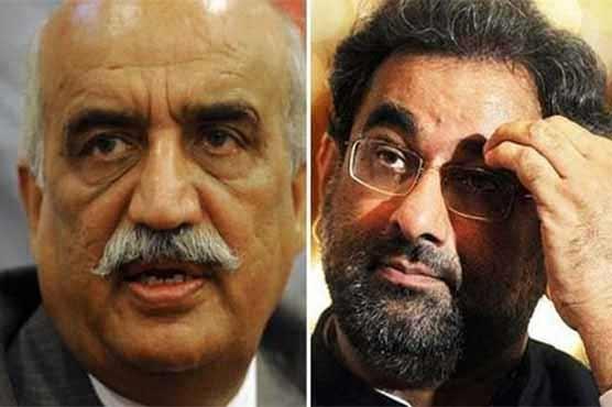 Caretaker PM: Meeting between PM Abbasi, Khursheed Shah underway