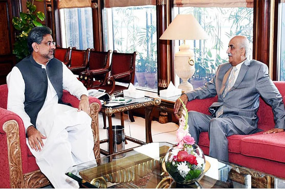 PM, Khurshid Shah hold another meeting to finalise caretaker PM's name