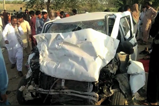 Khairpur: Six killed in collision between two cars