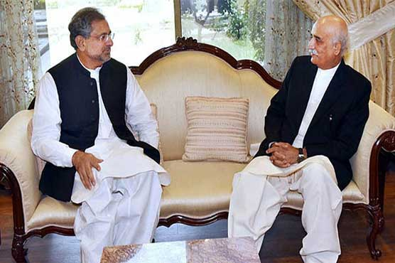 Abbasi, Shah meet again to discuss name of caretaker PM