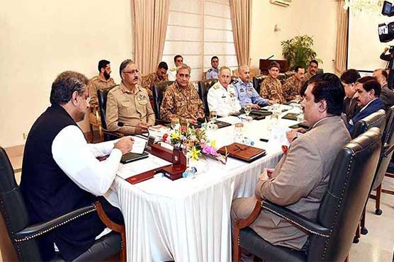 PM Abbasi chairs National Security Committee meeting