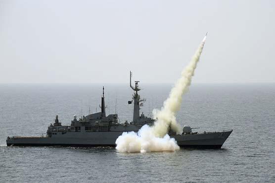 Pakistan Navy successfully demonstrates fire power at North Arabian Sea