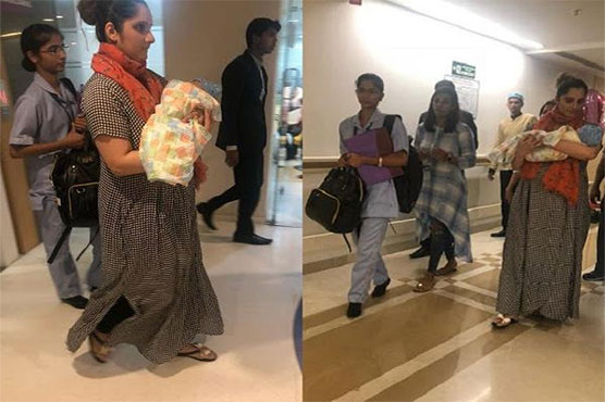 'Mommy' Mirza heads home with son Izhaan, see pics
