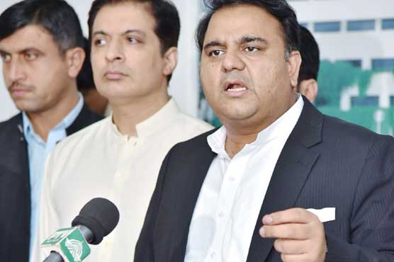 Fawad Chaudhry hits out at PPP during Sindh visit